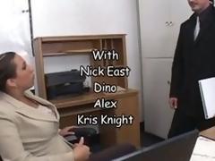 Bonerific Dark brown hair MILF Alisandra Monroe Gets Drilled In Her Office