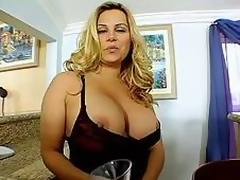 Blonde Milf Shakes Her Tits!
