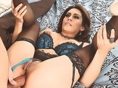 MILF Raylene in underware offers her wet fuckable ass to hot thick dicked neighbour that satisfies her anal needs and craves in this video. This babe feels happy getting butt fucked.