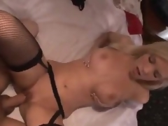 Hot girl in stockings makes a gazoo call