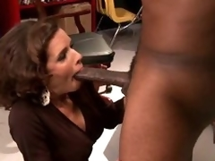 Breasty Brunette MILF Veronica Avluv Goes Interracial Until Squirting