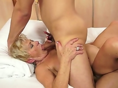 Sexually excited granny Malya can't live out of the sweet intensive enjoyment of a big shlong ramming her hard