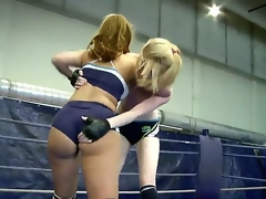 Hawt and excited blondes Alice King and Daikiri are fighting for the domination on the ring