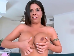 Candi Coxx bumpers are fucking amazing. This is her First time in front of the camera but u wouldnt make no doubt of it. Just see this MILF babe go. she oils up her big fat bumpers and then goes straight for some hardcore 10-Pounder action.