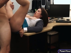 Busty milf ups her money by sucking cock