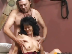 Stud has sex with a delicate brunette hair