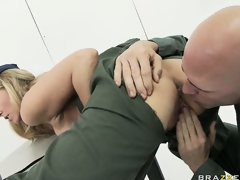 MILF babe Julia Ann rammed hard in the army by a sexually excited soldier