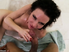 Compilation of women getting blasted with giant POV cumshots