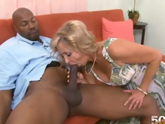 Divorce is the MILF fans greatest ally. Out of a stale marriage and a ensuing divorce, Connie wouldnt be getting her mouth, cunt and arsehole filled with a thrusting BBC right now. This is her First darksome man. I had anal sex in grad school and I?havent had it since, so I dont know if itll fit, Connie had said Dave about her chocolate aperture boffing. Stone swings a thick fucker. Can Connie take that in her heinie-hatch? Youve seen the photos. Connie looked like she was loving her chocolate aperture drilling in different positions. If her ex ever sees this, hes going to need therapy. This fellow would never tag her tush let alone truly ram her rump when he had her in his bed. I liked it when I?had anal sex in grad school. It was great. I?love anal sex with a hand stimulating my clit. That was my favorite. I like the pressure. I like that a lot. Its a different kind of pressure, and it feels truly good. And now that Connie McCoys had the hard chocolate fucksicle merely at 50PlusMilfs.com, is her pleasant tooth satisfied? What else does she desire to try in the near future? We shall see.