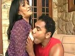 Screwed mature sweetheart pleases ebony cock