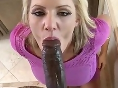 Biggest black ramrod for beautiful milf Zoey Holiday