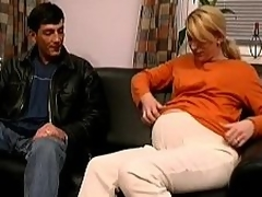 Pregnant Euro wife having sexual congress