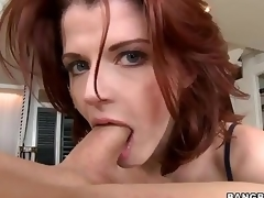 Redhead MILF Joslyn James is fashionable and skillful . She gives awesome tugjob and takes wang in her throat previous to she makes it vanish in her hungry pussy.