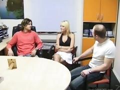 Daniela Pulman and Marti Zina Go Lesbo In a Bonerific Trio