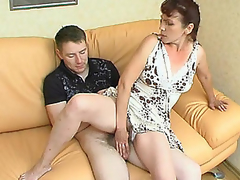 Sultry aged beauty is very priceless in luring younger stud into steamy fucking